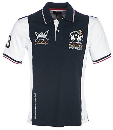 La Martina Herren Jenesio Poloshirt, Blau (Navy), Small
