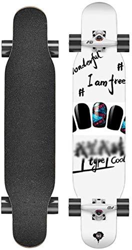 Woodtree 42 Pulgadas Longboard Longboard Freestyle monopatín Cubierta de Arce Baile Longboard...