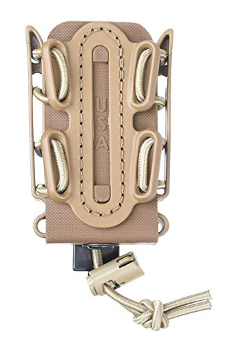 G-CODE Limited Color(Sand) Soft Shell Scorpion -Short- Pistol Mag Carrier with P3 Misc Belt Clip 100% Made in The USA (1153-1C)