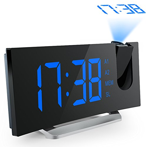 Mpow Projection Alarm Clock with Dual Alarms, USB...