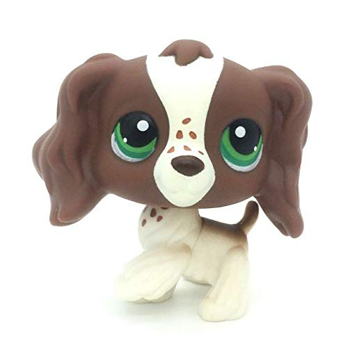 Littlest pet Shop LPS#156 Toy Brown Cocker Spaniel Dog Green dot Eyes