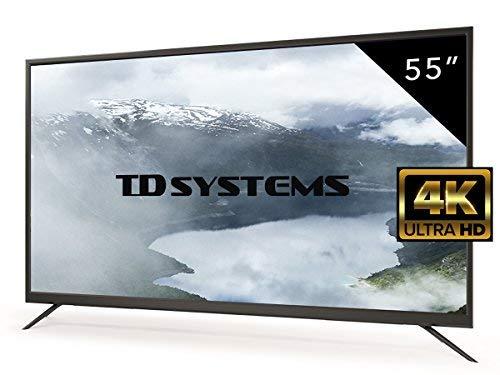 Televisores Led 55 pulgadas 4K Ultra HD TD SystemsK55DLM7U (Resolución 3840x2160/HDMI 3/VGA 1/USB Repoductor y grabador) Tv 4K