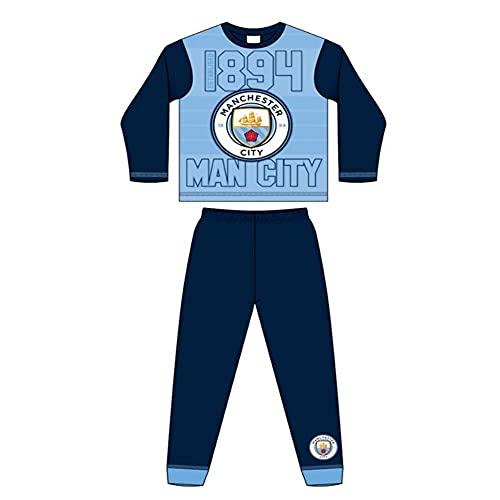 Character Linens - Pigiama da bambino, motivo: Manchester City Football Club F.C., 4-12 anni Blu 7-8 Anni