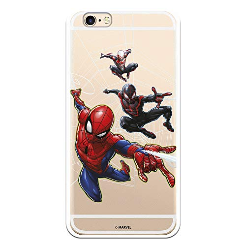 Funda para iPhone 6-6S Oficial de Marvel Spiderman Telaraña Patron para Proteger tu móvil. Carcasa para Apple de Silicona Flexible con Licencia Oficial de Marvel.