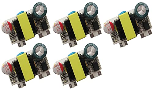 TECNOIOT 5 pieces AC-DC 3.7 V 2000 mA step-down switching power supply with low ripple