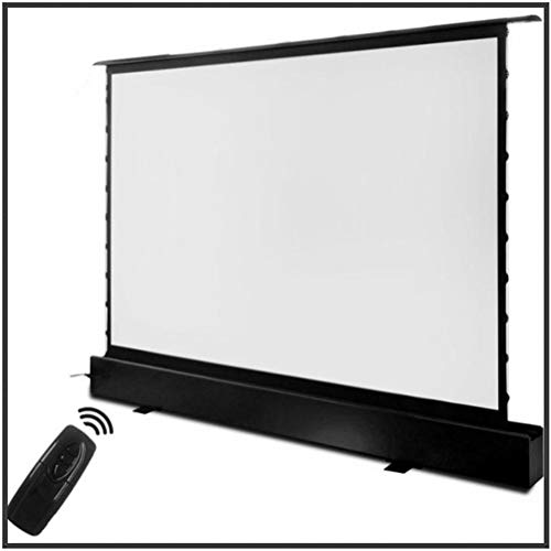 HDDFG 16:9 HDTV Motorized Electric Floor Rising Front Projection Screen Motorised Floor Stand Screens with Cinema White (Size : 100 inch)