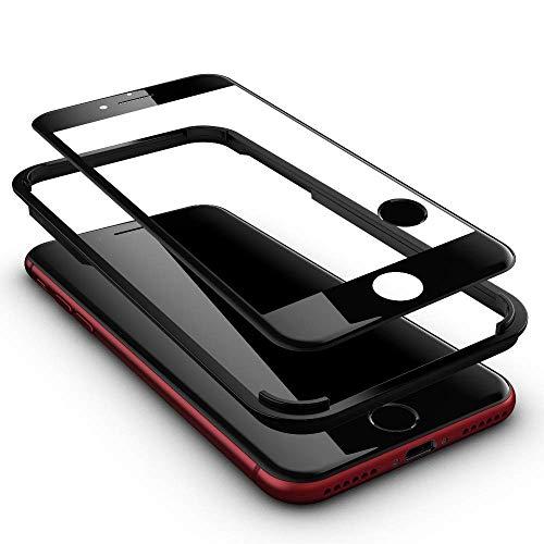 GLAZ Displayschutz geeignet für iPhone SE 2020 Panzerglas in schwarz, Schutzfolie, 9H Härte, Mit Applikator, Blasenfrei, Premium Panzerfolie, Volle Abdeckung 4D,Hüllenfreundlich, 1 Touch ID Button