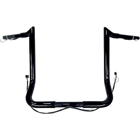 Color: Black 11316W14BP Black 16in Cyclesmiths Ape Hanger 1 1//4in Rise Handle Bar Size: 1 1//4in. Handlebar
