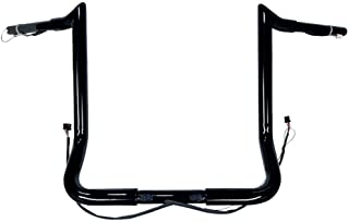 "Dominator Industries 1 1/4"" PRE-WIRED 14"" Meathook Monkey Bar Ape Hangers Handlebars 2014-2020 Harley-Davidson Bagger Electra & Street Glide Special Ultra Limited & Low (Gloss Black)"