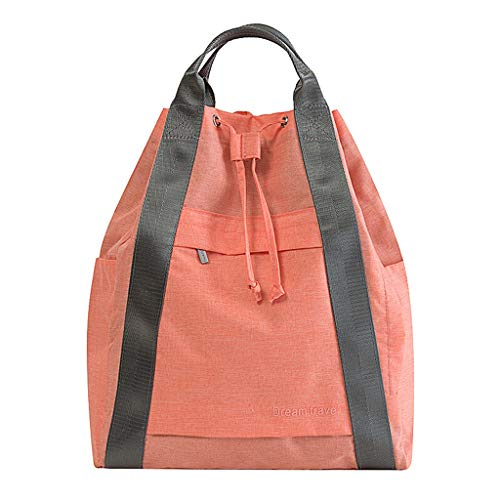 Sac à dos de voyage imperméable à l'eau avec cordon de serrage et bandoulière Sac fourre-tout portable Sac de sport et de loisirs (Couleur : Orange)