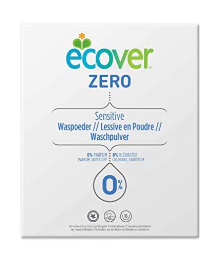 Ecover Lessive Poudre Unvierselle Zéro   Sans Enzymes 0%   Doux Pour Les Peaux Sensibles Hypoallergénique   Convient Pour Les Bébés   1,2Kg - 16 Lavages
