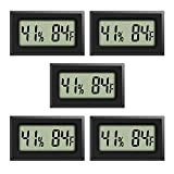 Best Hygrometers - Rojuna 5-pack Mini Thermometer Hygrometer, Large Number Fahrenheit Review