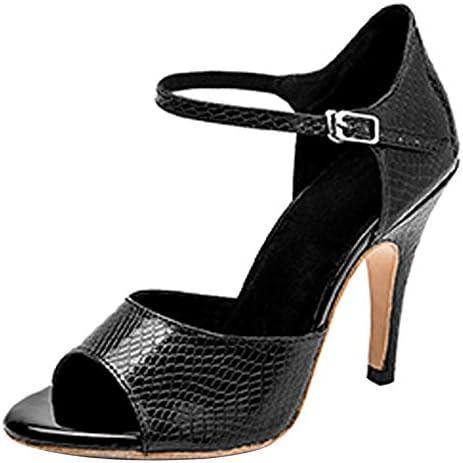 "DKZSYIM Women Ballroom Dance Shoes 4"" Dancing High Heel Salsa Shoe Latin Sandal Pumps,Model YCL275"