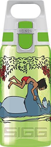 SIGG VIVA ONE Junglebook Kinder Trinkflasche (0.5 L), schadstofffreie Kinderflasche mit auslaufsicherem Deckel, einhändig bedienbare Wasserflasche