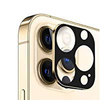 iPhone 12 Pro カメラ保護フィルム iPhone 12 Pro カメラフィルム レンズ保護ケース 全面保護 傷防止 高透過率 アイフォン 12 Pro レンズ保護カバー カメラカバー 耐衝撃 (ゴールド)