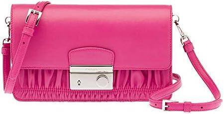 Prada Women s Nappa Gauffre Clutch Hand Bag BT1034 Pink product image