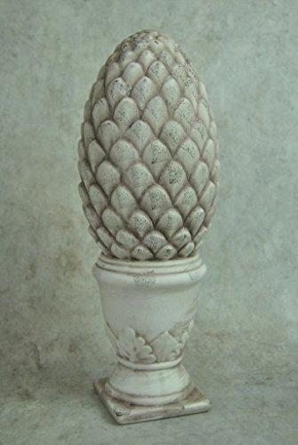 Four Seasons- Ornament Ornate Stone look Finial Acorn Shaped Resin Decoration Ornament