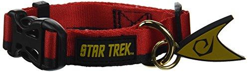 The Coop Star Trek Red Uniform Dog Collar, Small
