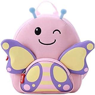 Fresh wild simple fashion 3D Cartoon Animal Bag Cute Animal Children Bag Kid's Anti-Lost Bag (Color : B, Size : L(3-8)),Si...