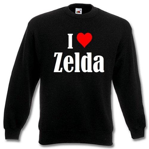 Reifen-Markt Sudadera I Love Zelda para mujer, hombre y niños en los colores negro, blanco y azul con impresión Negro L