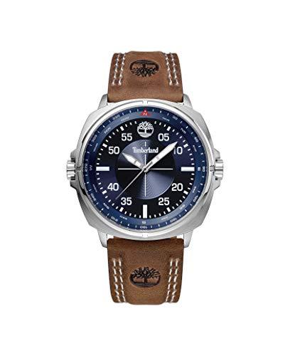 Timberland Reloj Analógico para Hombre de Cuarzo con Correa en Cuero TBL.15516JS/03