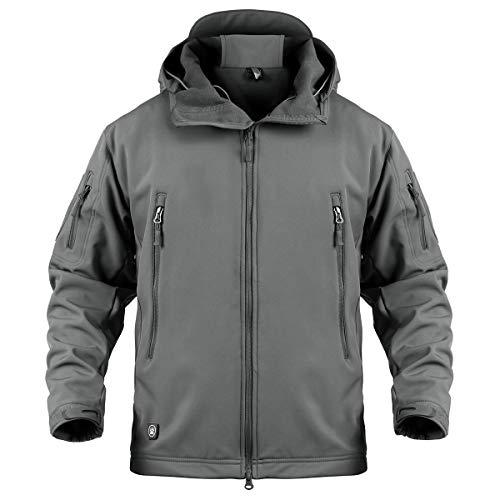 ReFire Gear Men's Army Special Ops Military Tactical Jacket Softshell Fleece Hooded Outdoor Coat