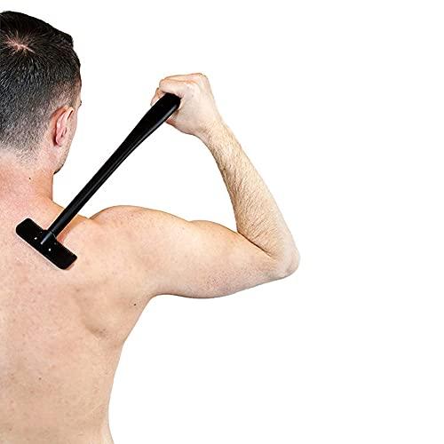 """Rückenrasierer, Rückenrasierer Herren mit Langem Griff 15\"""", Rückenrasierer Körperrasierer mit ergonomischer Griff Gebogen DIY Rückenhaar Rasier Schmerzlose für perfekte Nassrasur"""