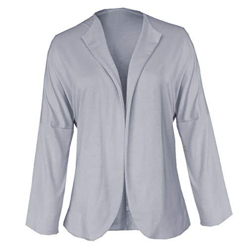 ZOSYNS Chaqueta de punto para mujer, de manga larga, irregular, informal, para primavera, negocios, oficina, tallas S-XL