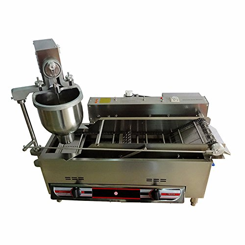 MXBAOHENG Commercial Automatic Gas & Electric Donut Making Machine Donut Fryer CE Approval (110V)