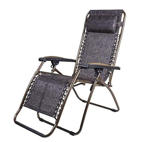 OESFL Reclining Chair Foldable Lounge Chair Patio Reclining Chairs Zero Gravity Chair,Lounge Chair Folding Lunch Break Chair Office Nap Bed Summer Cool Chair Leisure Beach Chair Old Man Household Port