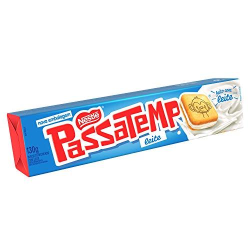 Biscoito Recheado, Leite, Passatempo, 130g