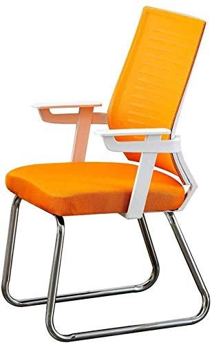 Office Computer Desk Chair,Executive Chair,Ergonomic Chair Backrest Streamlined Armrest Design Home Bow Foot Office Chair-Orange