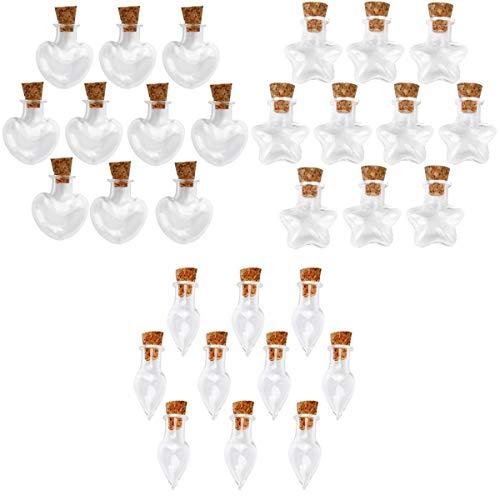 Yotijar - Botellas de cristal de 30 piezas para collar colgante DIY Ars Vasetti