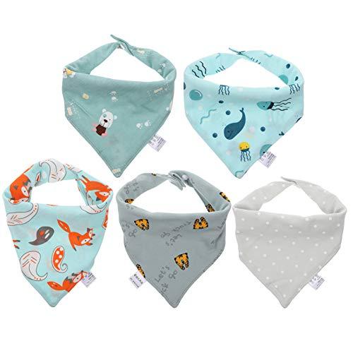 STOBOK 5Pcs Dribble Babadores Do Bebê Super Absorvente Babadores para Bebê Recém-Nascido Infantil Criança Crianças