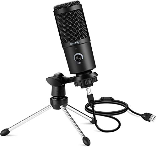 USB Mikrofon,Metal Kondensator-Aufnahme mikrofon für Windows und Mac Professionelles Desktop-Computer-Mikrofon für Podcast, Spiele, Youtube-Videos, Voice-Overs und Streaming