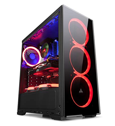 GOLDEN FIELD N17 Computer Case ATX / MATX / ITX PC Case Mid Tower Small Size Case Mini Case Tempered Glass Front Panel Acrylic Side Panel