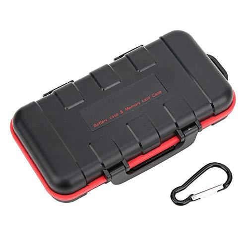 Yctze Estuche para tarjeta de memoria, caja de almacenamiento Batería Resistente a caídas Cámara resistente al agua Batería para NP-FW50 NP-FZ100 LP-E6 LP-E8 EN-EL15