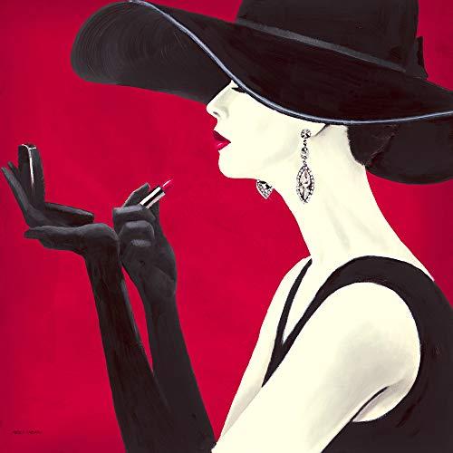 International Graphics Fertigbild - Fabiano, Marco - ''Haute Chapeau Rouge II'' - 30 x 30 cm - Direktdruck auf Acryl