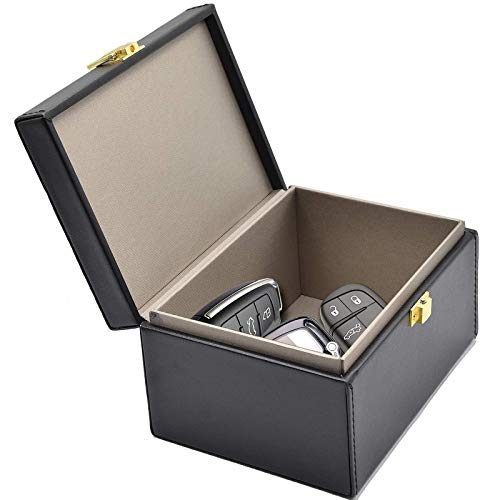 Todoxi Keyless Go Boîte Protection, Boîte Antivol Faraday, Boîte à clés de Voiture RFID Blocker Antivol Bloque Signal RFID Boîte