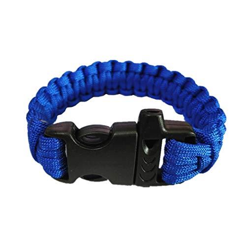 Supply EU 1 Stück Paracord Überleben Armband Rettung im Freien Fallschirmseil Armband mit Pfeife und Kunststoff Schnalle zum Reisen Camping Wandern von SamGreatWorld