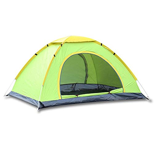 Silicone Backpacking Tent 2-3 Person For Backpacking Cycling Hiking Camping (Color : Green)