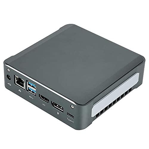 PC de escritorio, octavo para Intel i5 8265U Quad-Core 8-Threads, Mini-PC WIFI 8 GB RAM + 64 GB SSD + 2 TB HDD, soporte para HDMI 2.0 + DP 4K @ 60 Hz pantalla dual y ventilador de cobre silencioso in