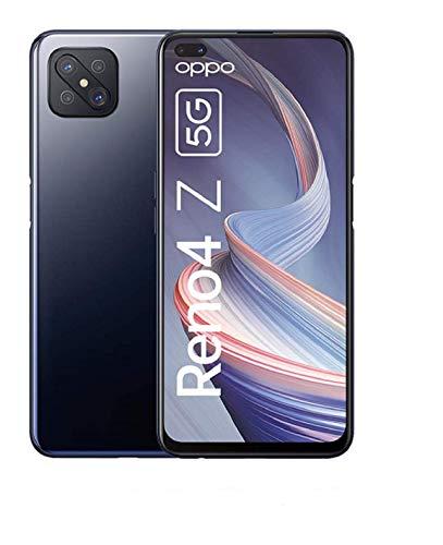 OPPO Reno4 Z 5G Smartphone, 6,57 Zoll 120 Hz Ultra HD Display, 48+8+2+2 MP Kamera, 16 MP Dual Frontkamera, 128 GB ROM/8 GB RAM, [Exklusiv +5EUR Amazon Gutschein], Ink Black – Deutsche Version