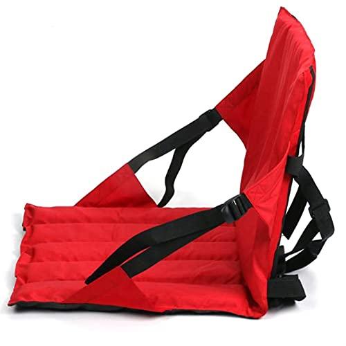 YXZQ Periféricos de Kayak Canoa Kayak Back Asiento Trasero Mochila Mochila Surfboard Asiento Inflable del Barco Utilizado para la reparación de Kayak (Color : Red)