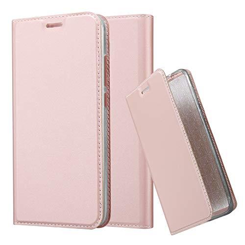 Cadorabo Hülle für Huawei NOVA Plus in Classy ROSÉ Gold - Handyhülle mit Magnetverschluss, Standfunktion & Kartenfach - Hülle Cover Schutzhülle Etui Tasche Book Klapp Style