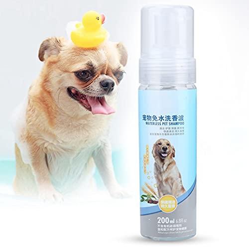 Jacksing Champú y acondicionador para Perros, Balance Pet's PH Value Champú para Perros sin Agua Diseño de Cabezal en Aerosol con extracto de Avena para el Aseo