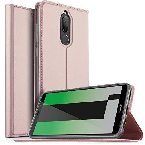 Verco Handyhülle für Mate 10 Lite, Premium Handy Flip Cover für Huawei Mate 10 Lite Hülle [integr. Magnet] Book Hülle PU Leder Tasche, Rosegold
