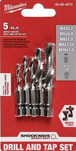 Milwaukee SHOCKWAVE Metric Steel Drill Tap Set (5-Piece) 48-89-4875