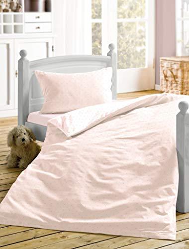 Irisette 8056-60 - Juego de funda de edredón y funda de almohada (satén, 100 x 135 cm y 40 x 60 cm), diseño de rosas