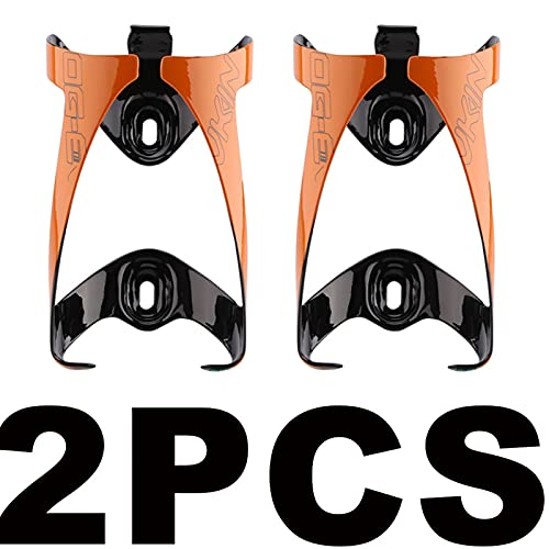 Jaulas de Botella, Las Mejores Jaulas De Botellas De Carbono Tornillos De Aleación De Titanio Brillante Bicicleta (Color : 2Pcs Orange)